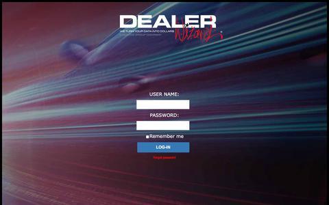 Screenshot of Login Page dealerwizard.com - Dealer Wizard - Login - captured June 4, 2017