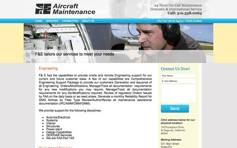 Screenshot of Services Page feairmaintenance.com - Our Services - captured Oct. 4, 2014