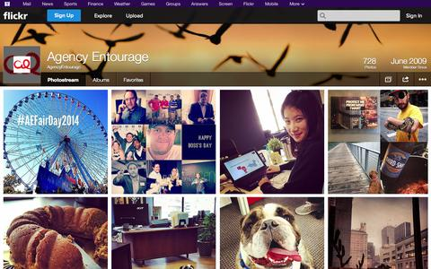 Screenshot of Flickr Page flickr.com - Flickr: AgencyEntourage's Photostream - captured Oct. 22, 2014