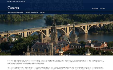 Screenshot of Jobs Page georgetown.edu - Careers   Georgetown University - captured Nov. 28, 2019