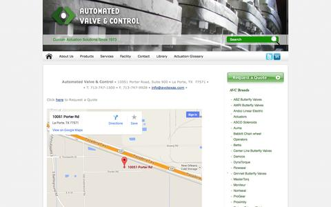 Screenshot of Maps & Directions Page avctexas.com - Automated Valve & Control - captured Oct. 4, 2014
