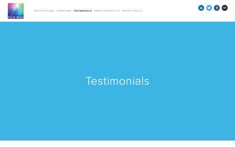 Screenshot of Testimonials Page ellisbelk.com - Testimonials — Ellis Belk - captured Sept. 28, 2018