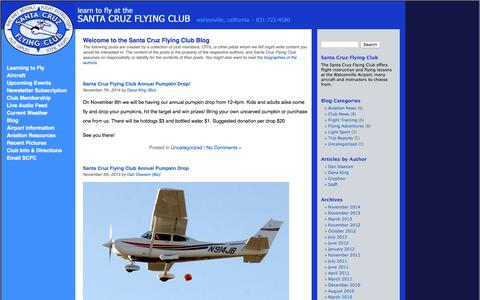 Screenshot of Blog scfc.org - Blog Â«  Santa Cruz Flying Club - captured Sept. 29, 2017