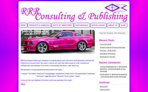 Screenshot of Products Page rrrconsulting-publishing.com - Products | Robin R. Robbins Consulting & Publishing - captured Sept. 30, 2014