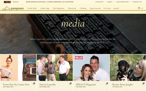 Screenshot of Press Page pampeano.co.uk - Media | pampeano - captured May 24, 2017