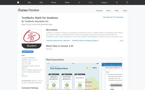 TenMarks Math for Students on the App Store
