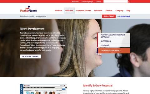 Talent Development System | PeopleFluent