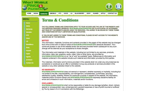 Screenshot of Terms Page whatmobilepricepakistan.com - Contact Us | What Mobile Price Pakistan | - captured Nov. 4, 2014