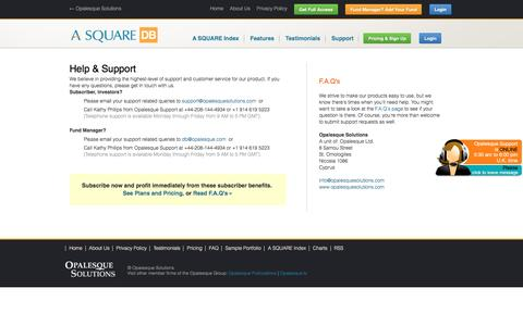 Screenshot of Support Page alternative-alternatives.info - Help & Support - Alternative Alternatives Database - captured May 25, 2016