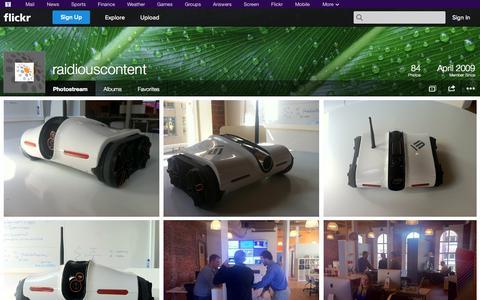 Screenshot of Flickr Page flickr.com - Flickr: raidiouscontent's Photostream - captured Oct. 27, 2014
