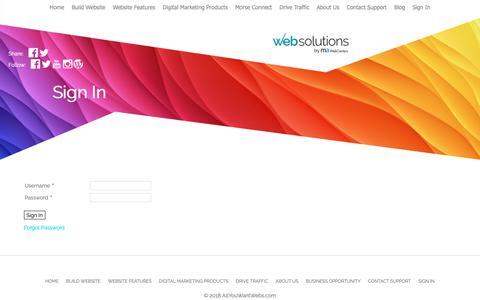 Screenshot of Login Page allyouwantwebs.com - AllYouWantWebs.com - Sign In - captured Nov. 27, 2018