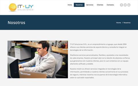 Screenshot of About Page it-uy.com - Nosotros – IT-UY Soluciones - captured Nov. 19, 2016