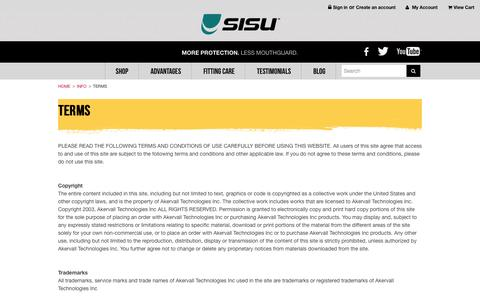 Screenshot of Terms Page sisuguard.com - Terms - captured Oct. 4, 2014