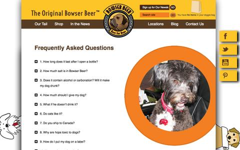 Screenshot of FAQ Page bowserbeer.com - Frequently Asked Questions | The Original Bowser Beer - captured Oct. 27, 2014