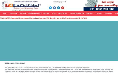 Screenshot of Terms Page ip4networkers.com - Terms & conditions | IP4 Networkers - captured Nov. 6, 2018