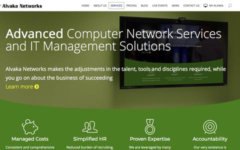 Screenshot of Services Page alvaka.net - Advanced Computer Monitoring & Network Security Solutions | IT Management Services - captured Oct. 8, 2017