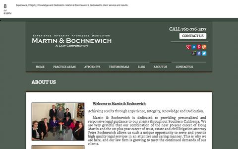 Screenshot of About Page mbtrustlaw.com - Lawyer Palm Desert   Lawyer Palm Springs   Lawyer San Diego   ABOUT US - captured Oct. 3, 2014
