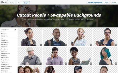 Screenshot of Team Page placeit.net - Free People PNG images and Cutout People by Placeit - captured Nov. 18, 2015