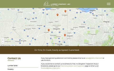 Screenshot of Contact Page pikelumber.com - Contact Us - Pike Lumber - captured Jan. 18, 2018