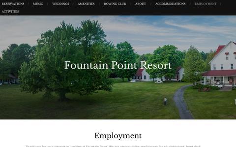 Employment – Fountain Point Resort