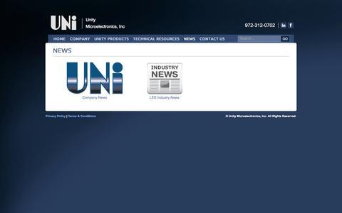 Screenshot of Press Page unity.com - News - captured Oct. 26, 2014