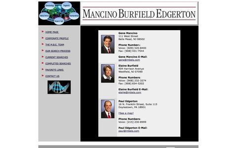 Screenshot of Contact Page mbels.com - Mancino Burfield Edgerton Life Science Contact Information - captured Oct. 4, 2014