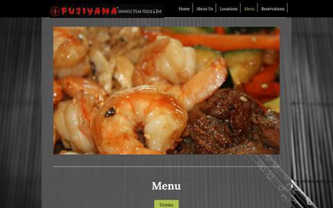 Screenshot of Menu Page fujiyamawa.com - Fujiyama - Menu - captured Oct. 14, 2017