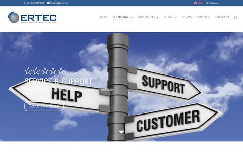 Screenshot of Support Page ertec.eu - Ertec instruction & service | Ertec Handling & Automation - captured Sept. 26, 2018