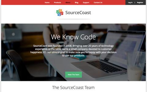 Screenshot of About Page sourcecoast.com - Company | SourceCoast - captured Sept. 18, 2014