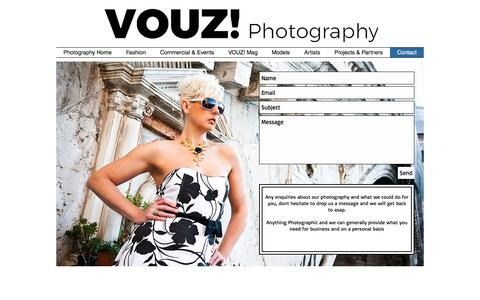 Screenshot of Contact Page visual-devotion.co.uk - Contact information for vouz photography - captured July 6, 2017