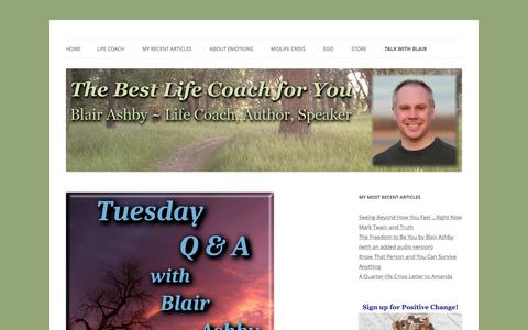 Screenshot of FAQ Page blairashby.com - FAQ - Blair Ashby - Life Coach, Author, Speaker - captured Jan. 30, 2017