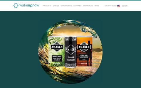 Screenshot of Products Page wakeupnow.com - Products | Wake Up Now - captured Oct. 29, 2014