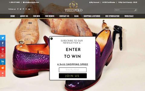 Screenshot of Home Page tuccipolo.com - TucciPolo - Handmade Italian Shoes, Mens Luxury Shoes & Bags - captured Nov. 28, 2016