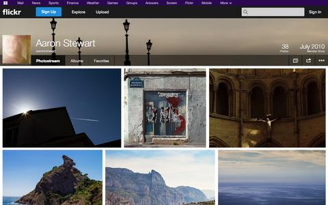 Screenshot of Flickr Page flickr.com - Flickr: aaronrstewart's Photostream - captured Oct. 23, 2014