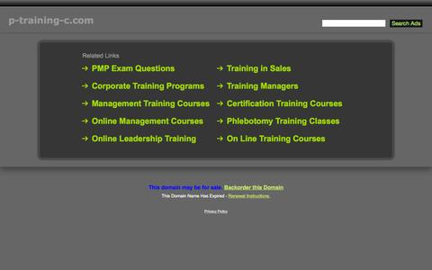 Screenshot of Home Page p-training-c.com - P-Training-C.com - captured Oct. 10, 2015