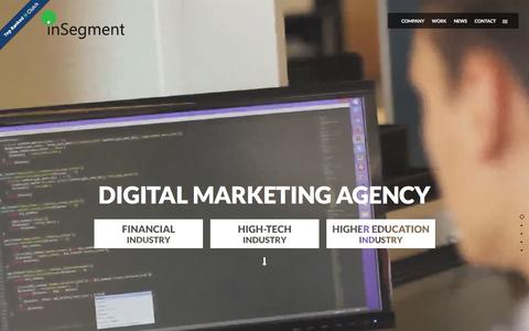 Screenshot of Home Page insegment.com - Boston Full Service Digital Marketing and Advertising Agency - captured Jan. 8, 2016