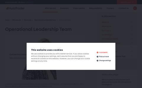 Screenshot of Team Page autotrader.co.uk - Catherine Faiers   - Operational Leadership Team   - The teams   - Who we are  - Auto Trader Group plc - captured April 26, 2019