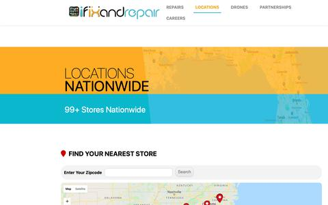 Screenshot of Locations Page ifixandrepair.com - LOCATIONS - iFixandRepair - captured Oct. 13, 2018
