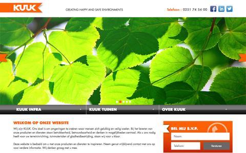 Screenshot of Home Page kuuk.nl - KUUK - Creating happy and safe environments - captured Sept. 30, 2014