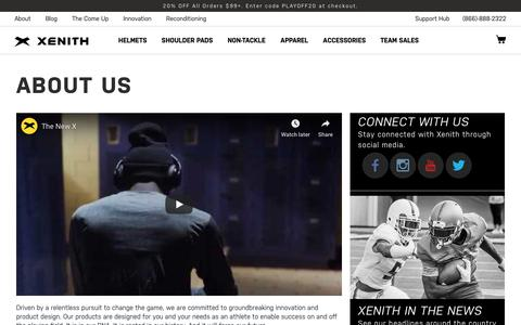 Screenshot of About Page xenith.com - About Us   Xenith - captured Nov. 15, 2019