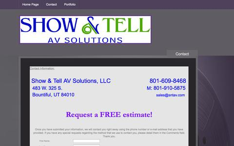 Screenshot of Privacy Page Contact Page showntellav.com - Contact - captured Oct. 25, 2014