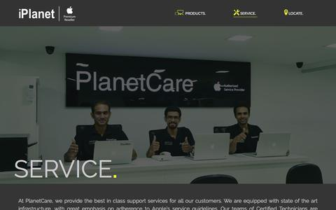 Screenshot of Services Page iplanetstore.in - Services - iPlanet - captured Oct. 16, 2017