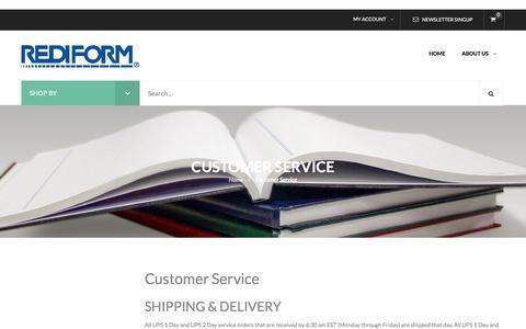 Screenshot of Support Page rediform.com - Customer Service - captured Nov. 22, 2016