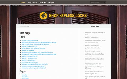 Screenshot of Site Map Page shopkeylesslocks.com - Site Map - captured Feb. 16, 2016