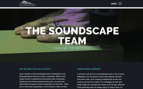 Screenshot of Team Page soundscapecaraudio.com - TEAM - captured Dec. 14, 2016