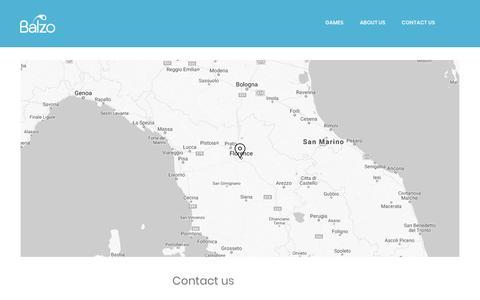 Screenshot of Contact Page balzo.eu - Contact us – Balzo - captured Oct. 5, 2018