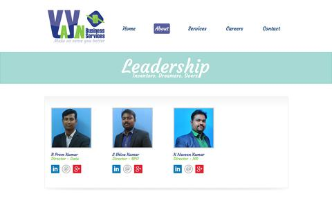 Screenshot of Team Page yayin.co.in - Executive Leadership - Yayin Business Services Pvt Ltd - captured Feb. 4, 2016