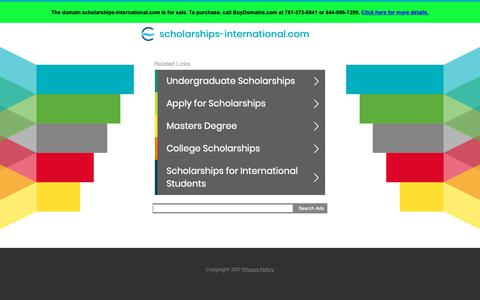 Screenshot of Home Page scholarships-international.com - scholarships-international.com - captured Nov. 8, 2018