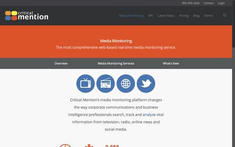 Media Monitoring - Critical Mention - Media Monitoring