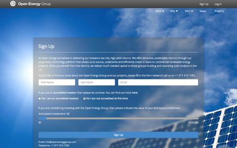Screenshot of Signup Page openenergygroup.com - Sign Up - Open Energy Group - captured Oct. 9, 2014
